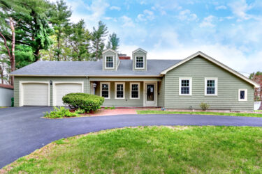 Front Exterior Photograph of 127 Phillips Brooks Road, Westwood MA