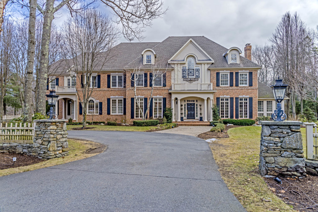 Stately Brick Home For Sale - Westwood MA