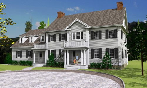 Computer Rendering of 4 Phillips Way in Westwood MA
