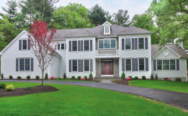 Front Exterior of 66 Martha Jones Road, Westwood MA