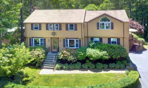 Aerial View of 40 Crystal Hill Terrace, Westwood MA