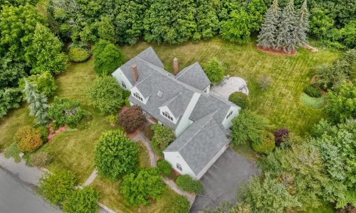 Aerial View of 16 Manor Lane, Westwood MA