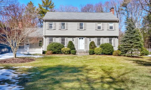 Front Exterior Photograph of 160 Clapboardtree Street, Westwood MA