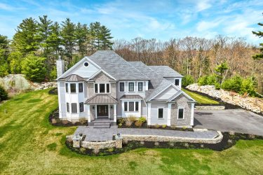 Front Aerial Photograph of 8 Boulder Trail, Walpole MA