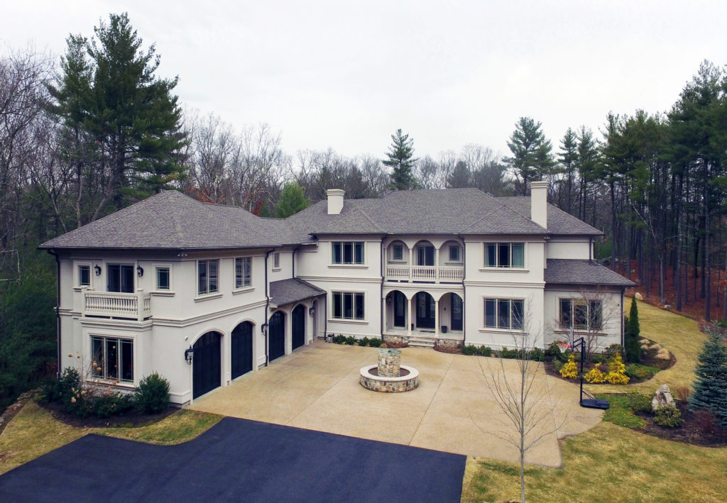 Aeriel View of Front Exterior 16 Pettees Pond Lane in Westwood MA