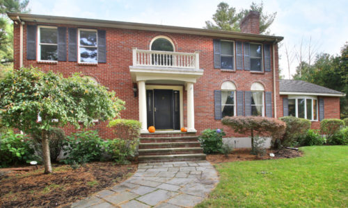 Custom Built Brick Colonial With Private Setting For Sale