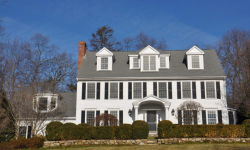 Front Exterior Photograph of 14 Martingale Lane in Westwood MA