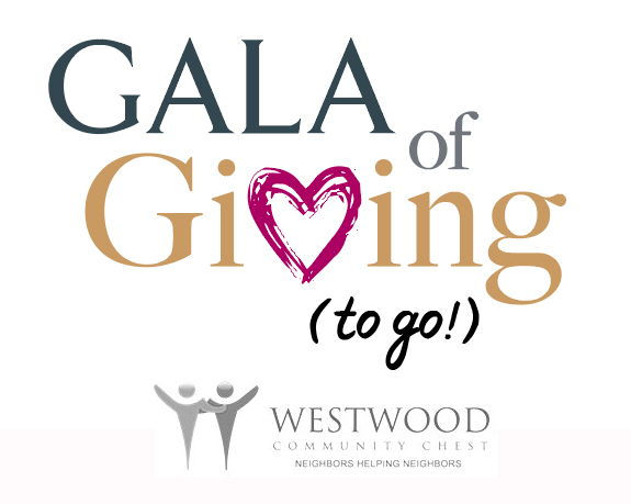 Logo for Gala of Giving (to go!) hosted by the Westwood Community Chest