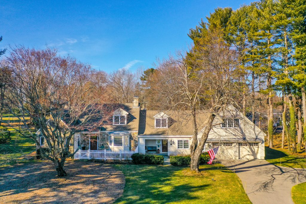Front exterior photograph of 56 Farm Lane in Westwood MA
