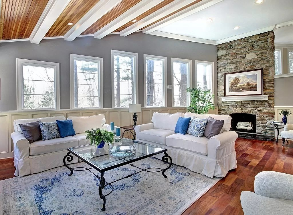 Photograph of a family room at 375 Westfield Street in Dedham, MA