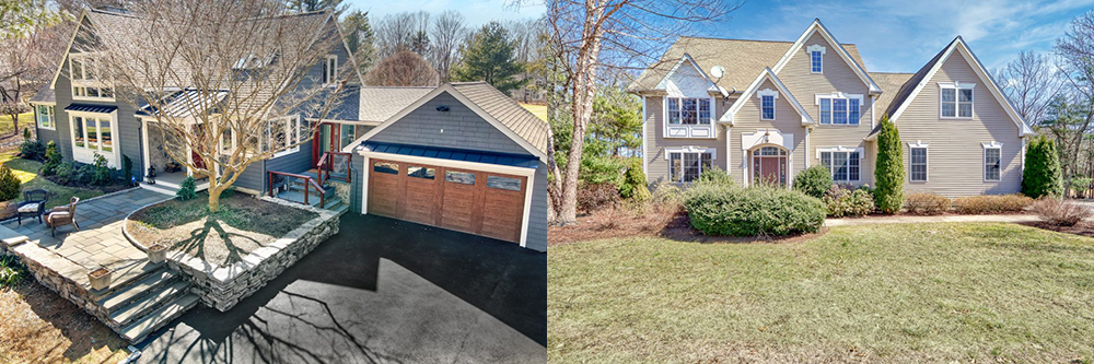 Front exterior photographs of homes under agreement in MA