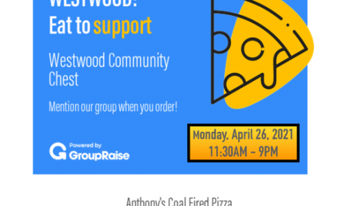 Eat To Support The Westwood Community Chest Flyer